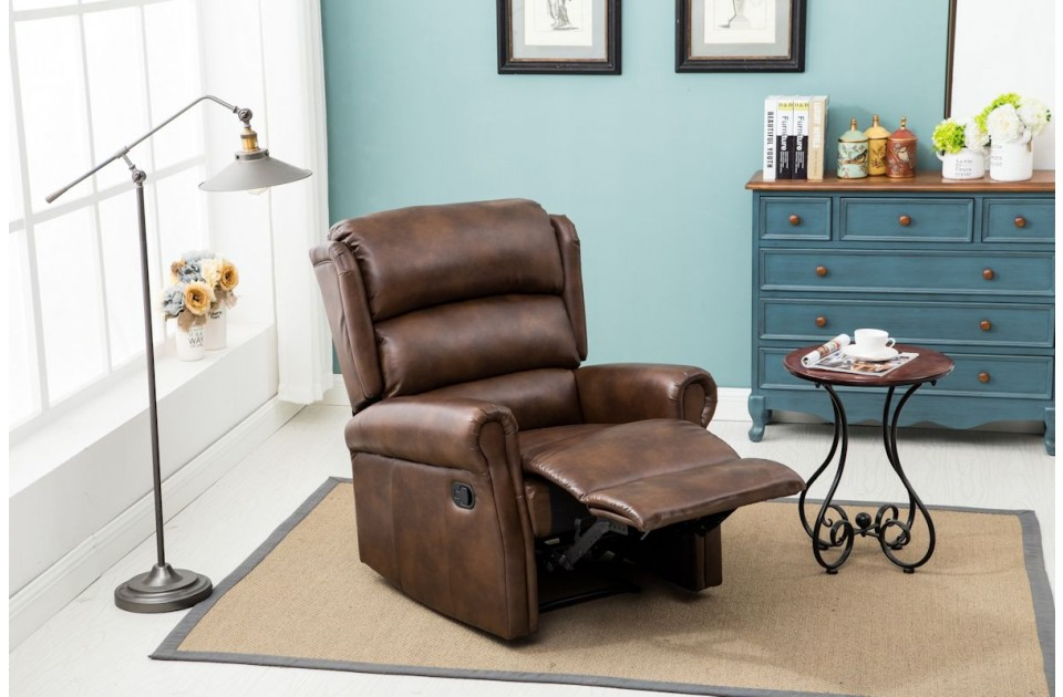Manhattan Recliner Chair Leather